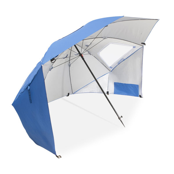 Strandparasoll, solskydd, regnskydd eller vindskydd